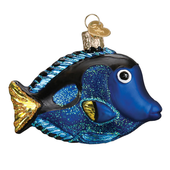 Pacific Blue Tang Ornament for Christmas Tree