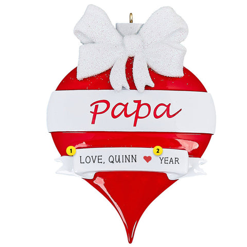 Papa Christmas Tree Ornament