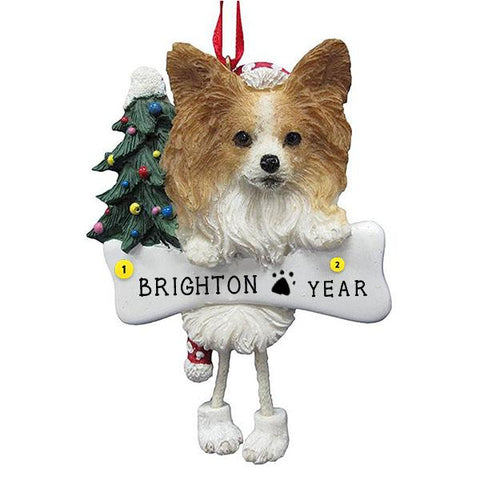 Papillion Dog Ornament for Christmas Tree