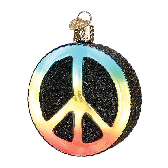 Peace Sign Ornament for Christmas Tree