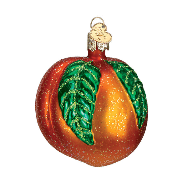 Peach Ornament for Christmas Tree