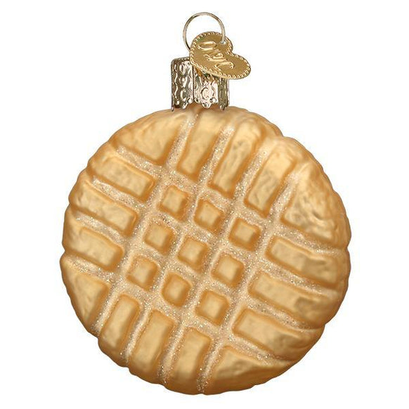 Peanut Butter Cookie Christmas Ornament Blown Glass