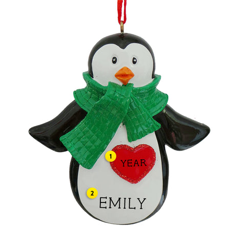 Penguin with Scarf Ornament for Christmas Tree
