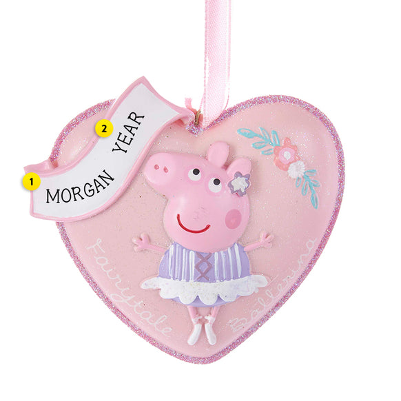 Peppa Pig Heart Ornament for Christmas Tree