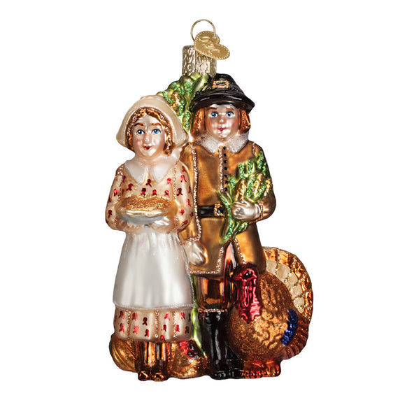Pilgrim Thanksgiving Ornament for Christmas Tree