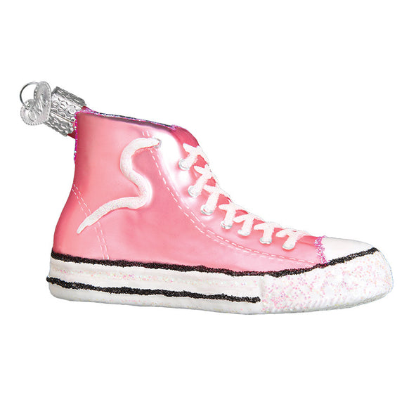 Pink High-Top Sneaker Ornament for Christmas Tree