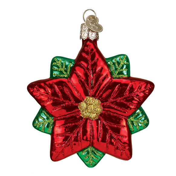 Pointsettia Star Ornament for Christmas Tree