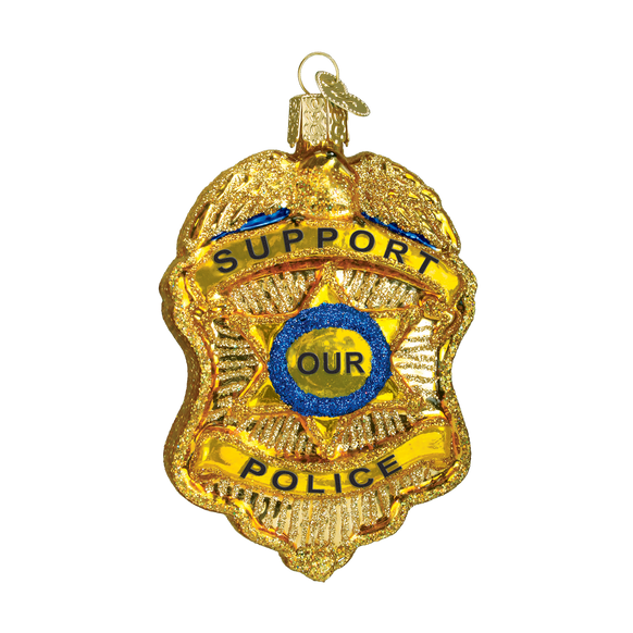 Police Badge Ornament for Christmas Tree