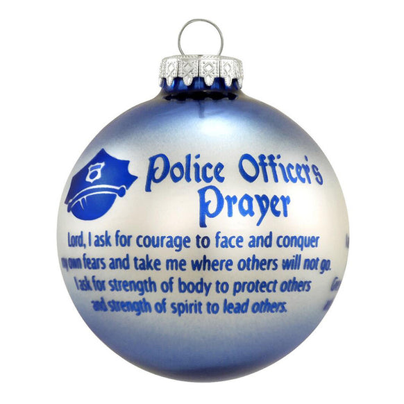 police officers prayer ornament for christmas tree - Police Officer Christmas Decorations