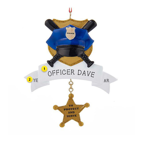 Police with Star Ornament for Christmas Tree