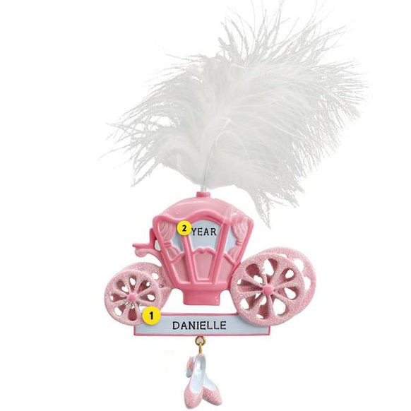 Princess Carriage Ornament for Christmas Tree