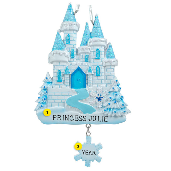 Winter Princess Castle Ornament for Christmas Tree
