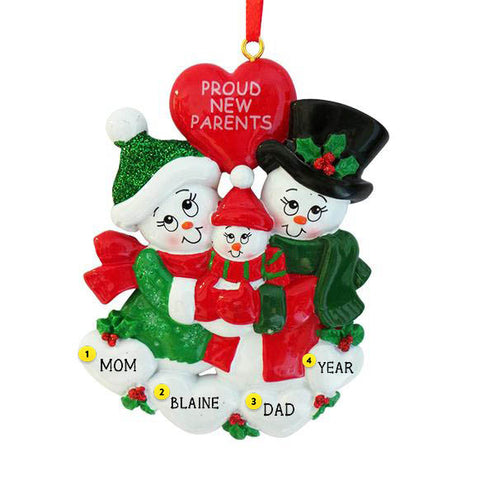 """Proud New Parents"" Ornament"