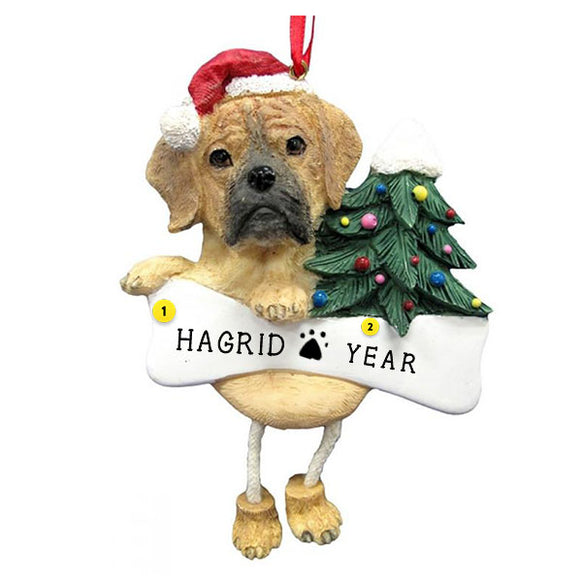 Puggle Dog Ornament for Christmas Tree