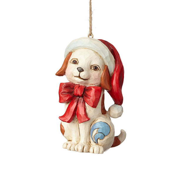 Puppy with Bow Ornament for Christmas Tree