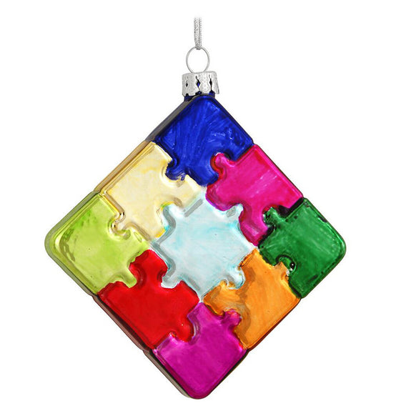 Puzzle Pieces Ornament for Christmas Tree