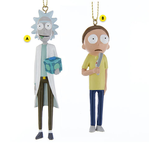 Rick or Morty Ornament For Christmas Tree 2 assorted please choose one
