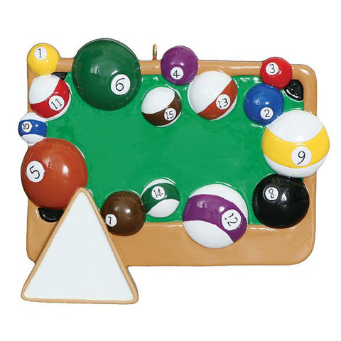 Billiard Table Ornament