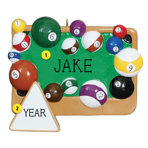 Billard Table Christmas Ornament