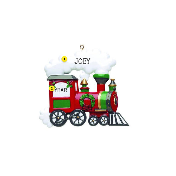 Train Engine Ornament For Personalizing For Christmas Tree