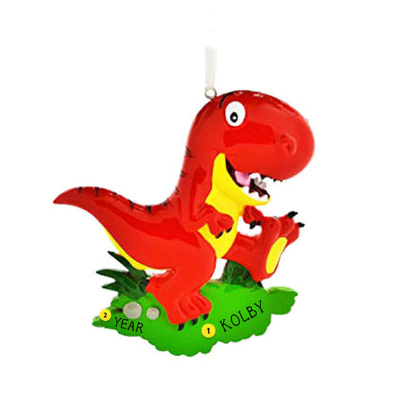 Dinosaur-T-Rex Ornament- Red