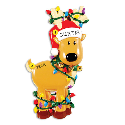 Reindeer with Lights Ornament for Christmas Tree