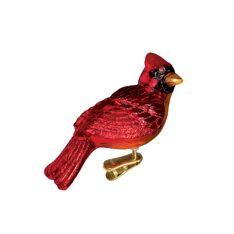 Resting Cardinal Ornament for Christmas Tree