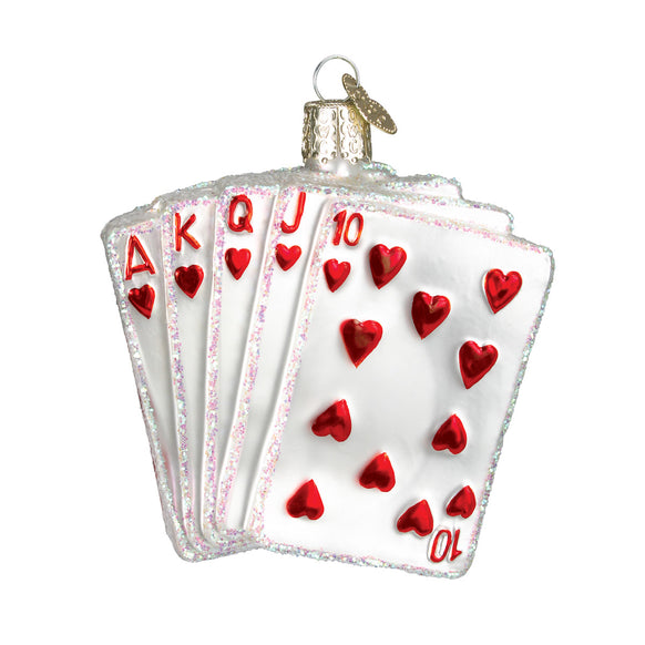Royal Flush Ornament for Christmas Tree