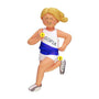Runner Ornament - Female, Blond Hair