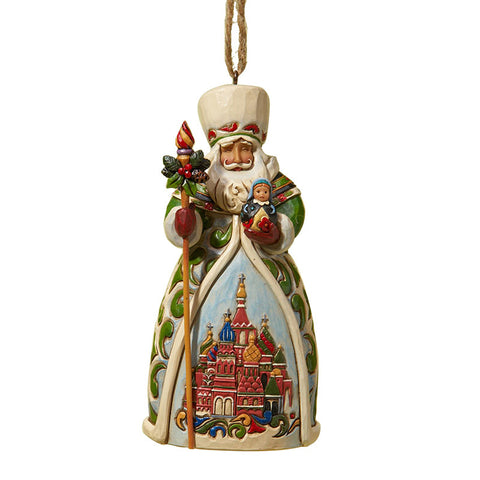 Russian Santa Ornament for Christmas Tree