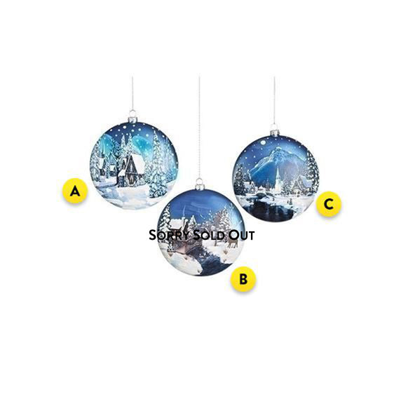 Winter Scene Christmas Ornament for your tree
