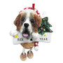 Saint Bernard Dog Ornament for Christmas Tree