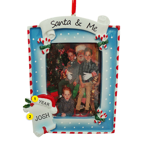 Santa and Me Frame Ornament