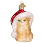 Santa's Kitten Ornament for Christmas Tree