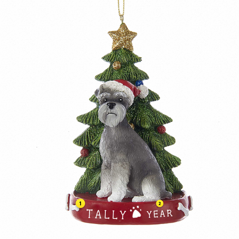 Schnauzer Dog Ornament For Christmas Tree