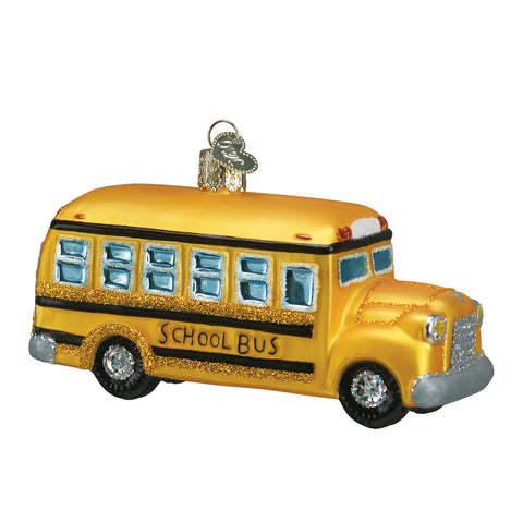 School Bus Ornament for Christmas Tree