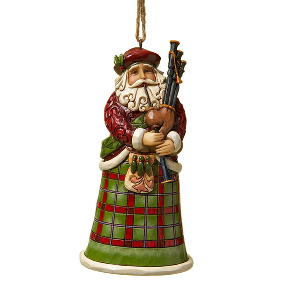 Scottish Santa Ornament for Christmas Tree