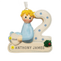 2nd Christmas Blonde Boy Christmas Ornament