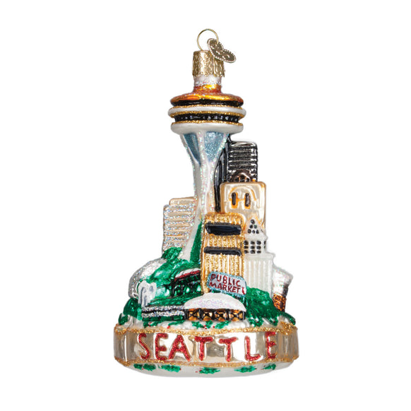Seattle Skyline Ornament for Christmas Tree
