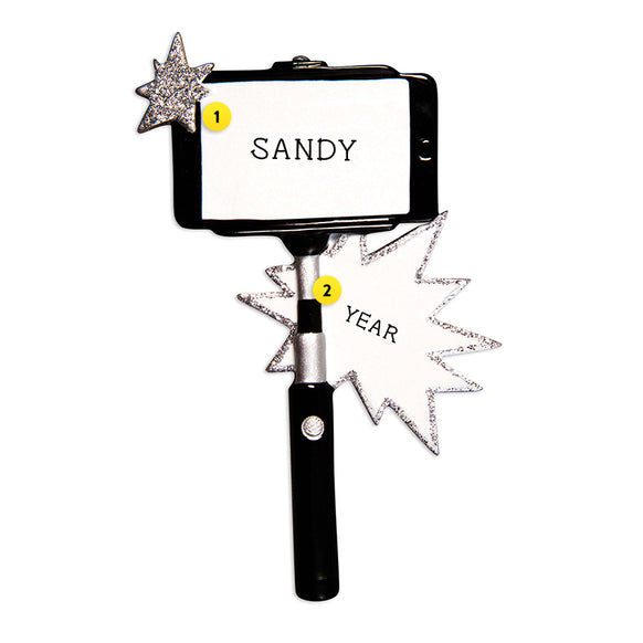 Selfie Stick Ornament for Christmas Tree