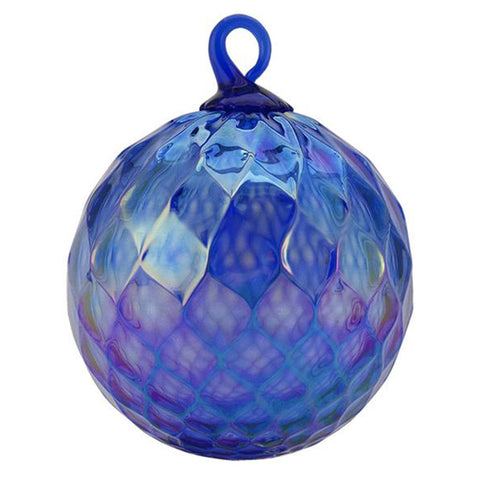 September Sapphire Birthstone Glass Eye Christmas Ornament