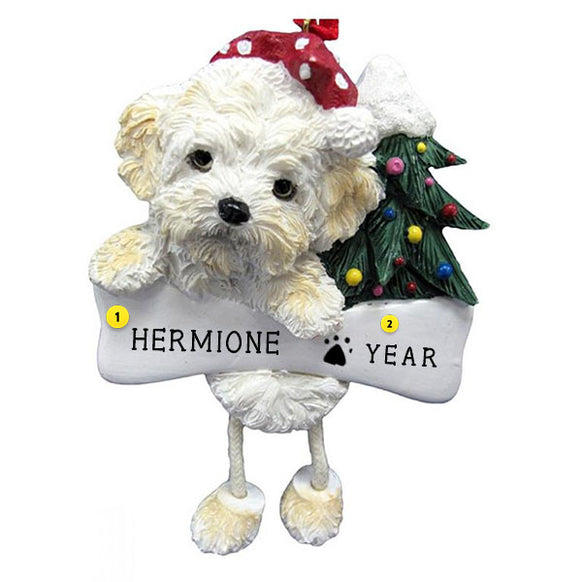 Shihpoo Dog Ornament for Christmas Tree