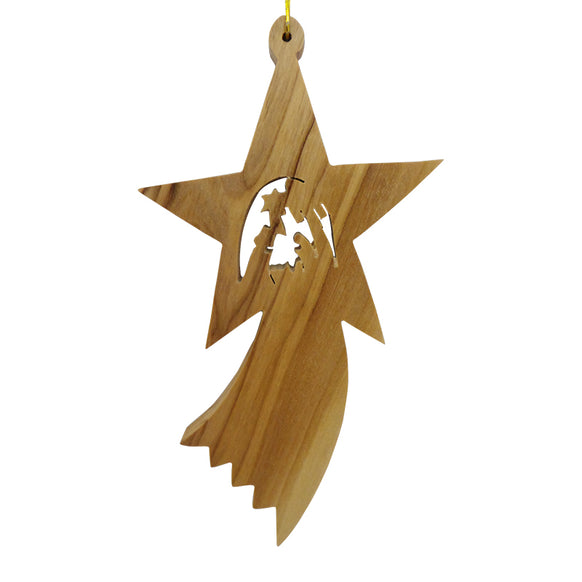 Shooting Star with Nativity Ornament for Christmas Tree
