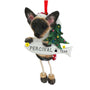 Siamese Cat Ornament for Christmas Tree Personalized