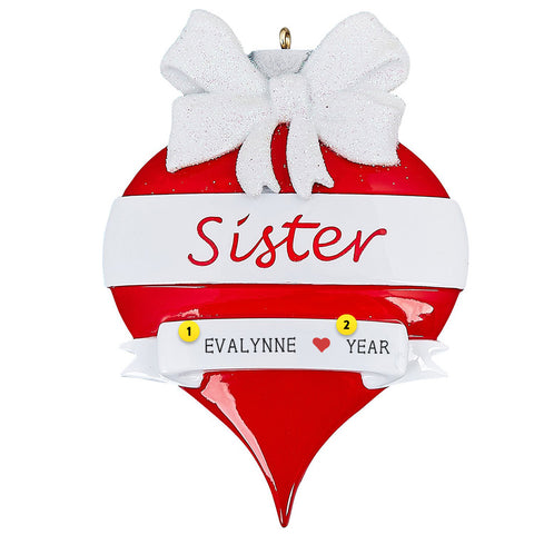Sister Christmas Tree Ornament