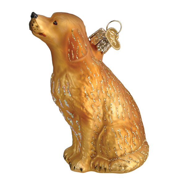 Sitting Golden Ornament for Christmas Tree