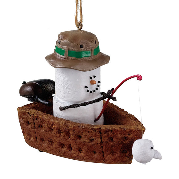 S'more Fishing Boat Ornament for Christmas Tree