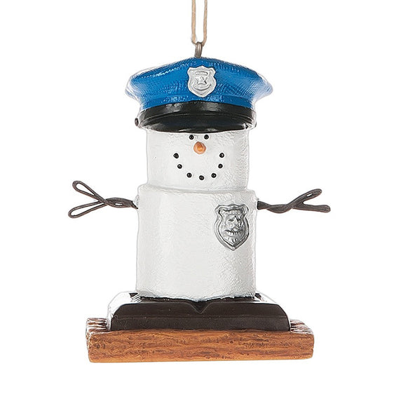 S'mores Police Ornament for Christmas Tree
