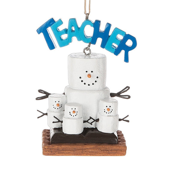 S'mores Teacher Ornament for Christmas Tree