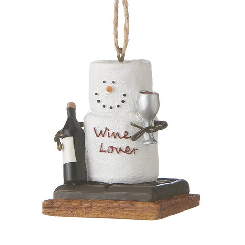 "S'more ""Wine Lover"" Ornament for Christmas Tree"